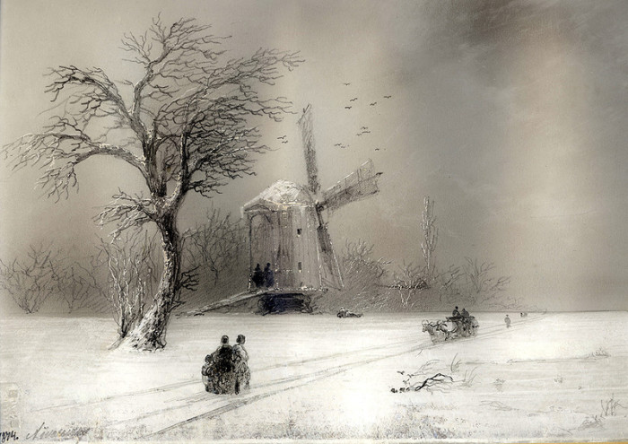 Неизвестный Айвазовский: Завораживающие зимние пейзажи прославленного мариниста   Ajvazovski