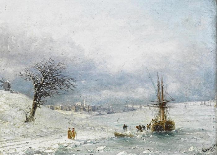 Неизвестный Айвазовский: Завораживающие зимние пейзажи прославленного мариниста   Ajvazovski1
