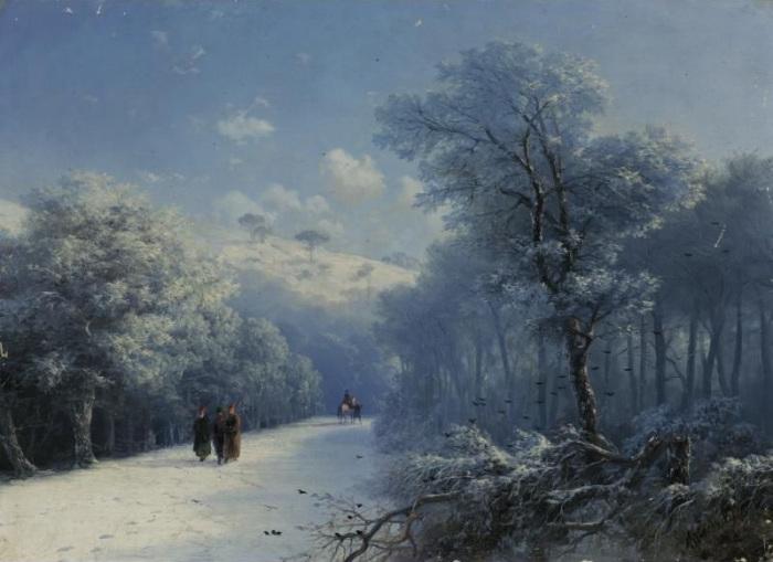 Неизвестный Айвазовский: Завораживающие зимние пейзажи прославленного мариниста   Ajvazovski2