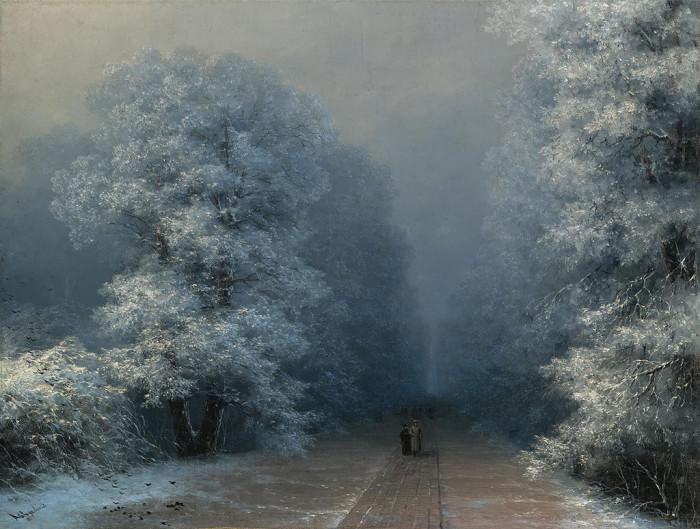 Неизвестный Айвазовский: Завораживающие зимние пейзажи прославленного мариниста   Ajvazovski3
