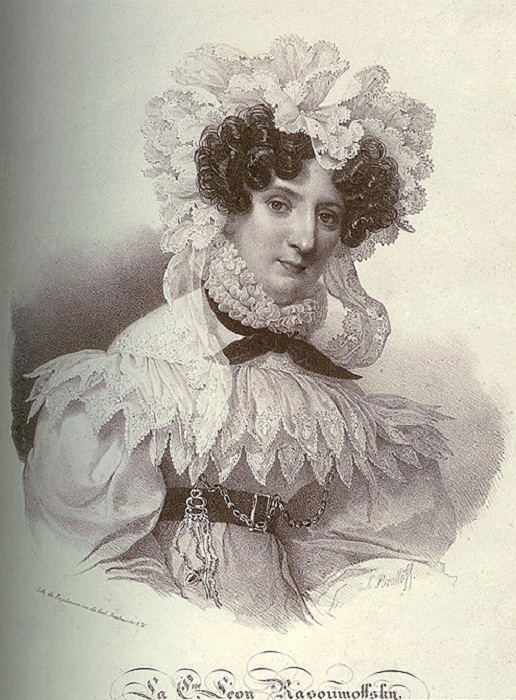 Графиня Мария Григорьевна Разумовская. А. П. Брюллов, ок. 1826-1829 гг. | Фото: softmixer.com.
