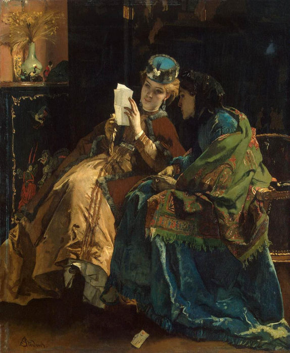 Приятное письмо. А. Стевенс, 1860 год. | Фото: fiveminutehistory.com.