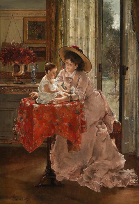 Счастливая мать. А. Стевенс. | Фото: fiveminutehistory.com.