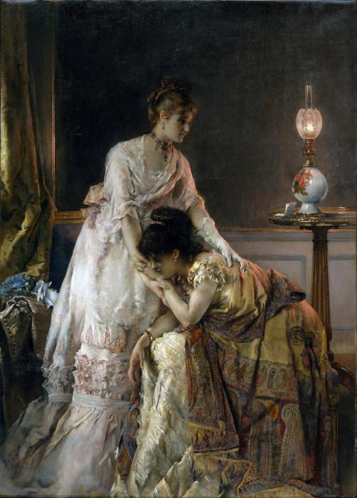 После бала. А. Стевенс, 1873 год. | Фото: fiveminutehistory.com.