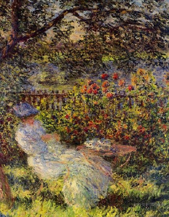Алиса Гошеде в саду. К. Моне, 1881 год. | Фото: viktoriyamasalab.ru.