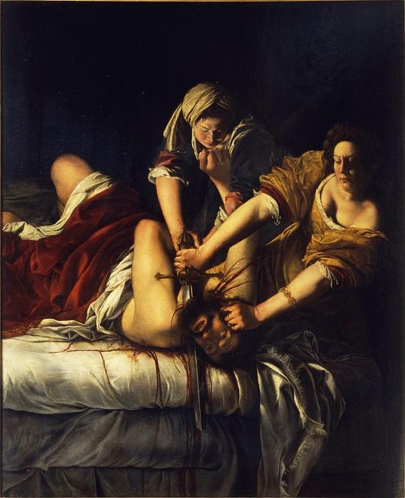 Юдифь, обезглавливающая Олоферна. А. Джентилески, 1625 год. | Фото: ranker.com.