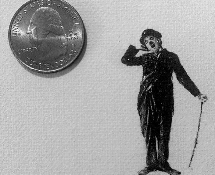 Рисунок размером с монету.