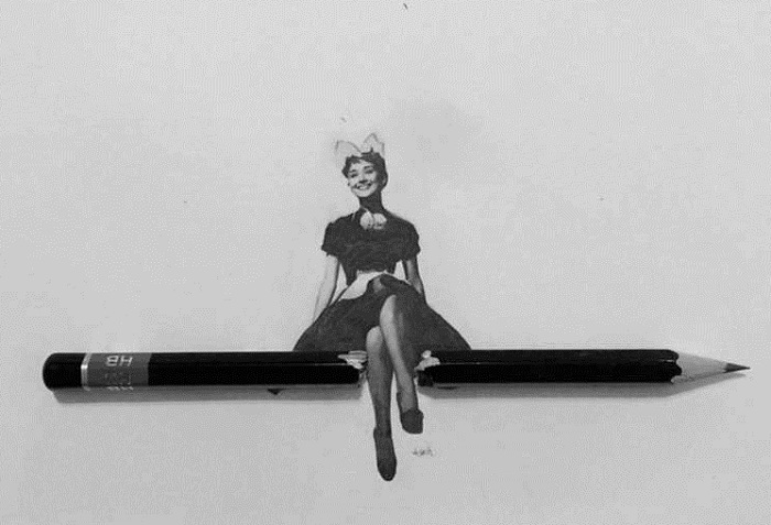 Одри Хепберн в миниатюре.