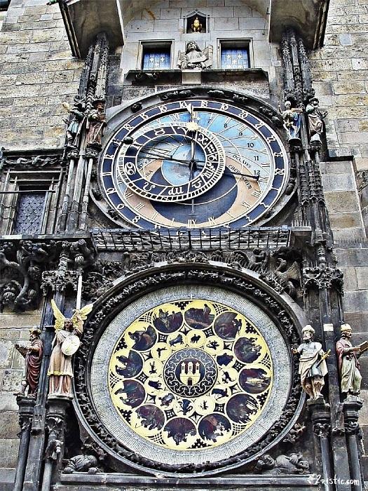 Пражские куранты на Староместской площади. | Фото: 2ristic.com.