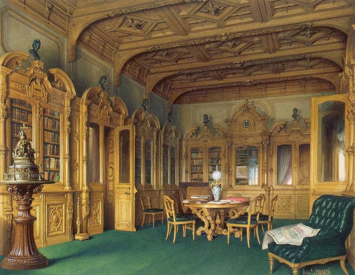 Библиотека, 1870 год. | Фото: fiveminutehistory.com.