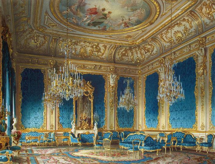 Голубая гостиная, 1870 год. | Фото: fiveminutehistory.com.