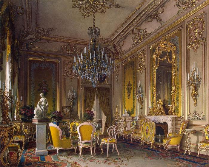 Гостиная, 1870 год. | Фото: fiveminutehistory.com.