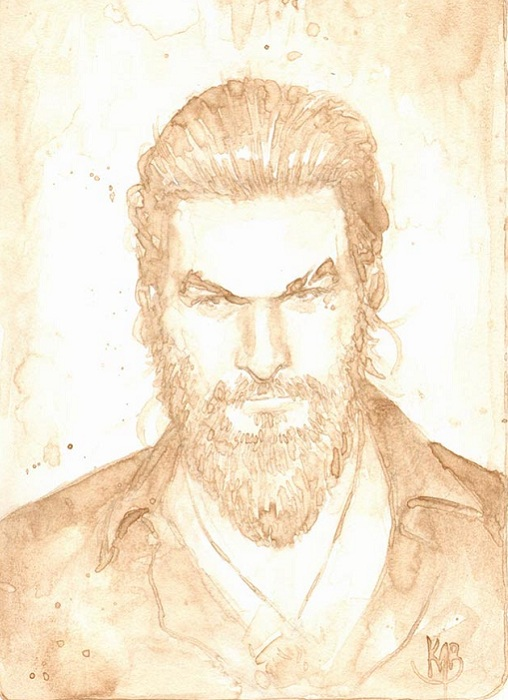 Портрет актера Джейсона Момоа.