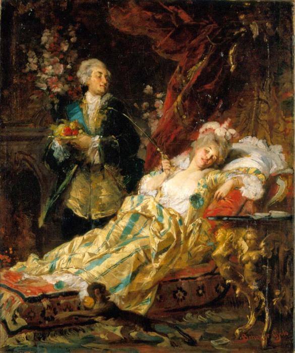 Дюбарри и Людовик XV. Дьюла Бенцур, 1874 год. | Фото: upload.wikimedia.org.