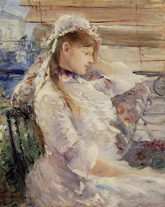 Профиль молодой женщины. Б. Моризо, 1879 год. | Фото: fiveminutehistory.com.