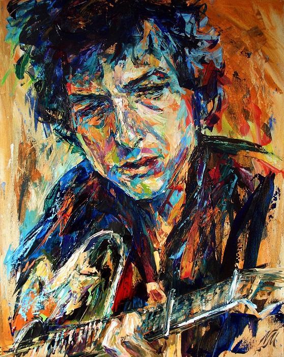 Автопортрет. Боб Дилан. | Фото: absolutearts.com.