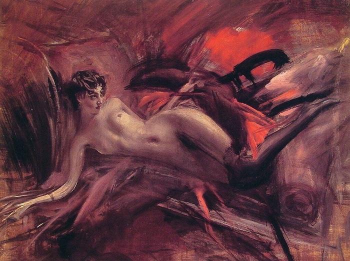 Лежащая обнаженная. Джованни Болдини. | Фото: ru.wikipedia.org.