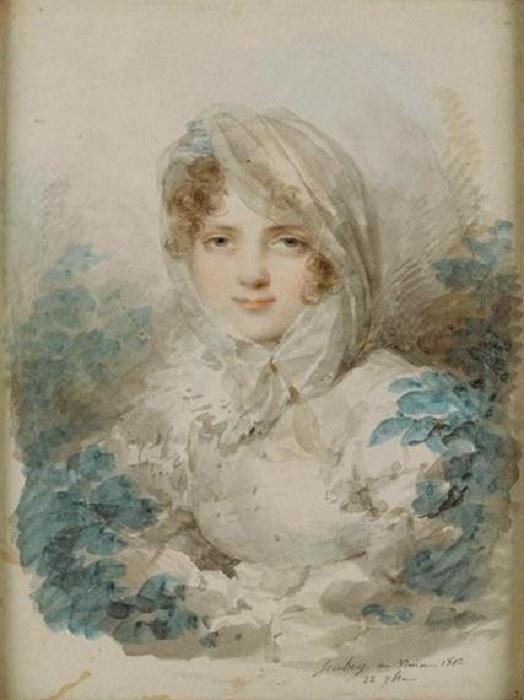 Портрет Екатерины Багратион. Жан-Батист Изабе, 1820. | Фото: ru.wikipedia.org.