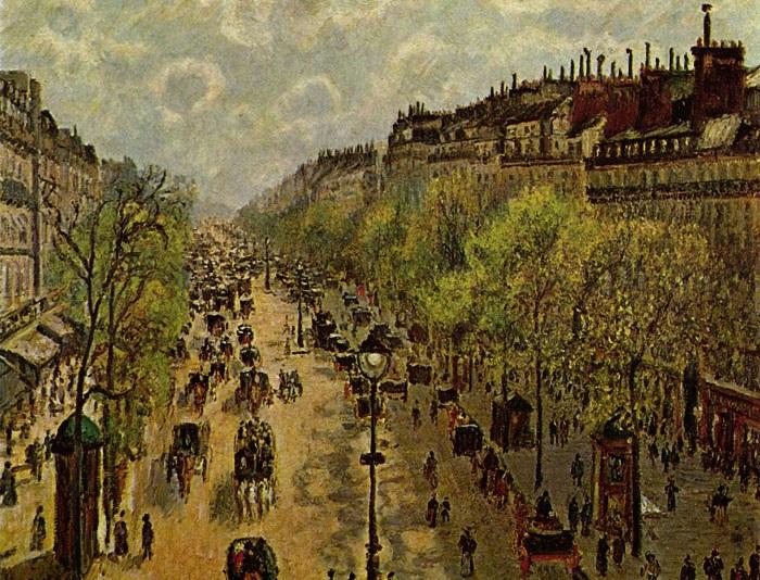 Бульвар Монмартр весной. Камиль Писсарро, 1897 год. | Фото: ru.wikipedia.org.