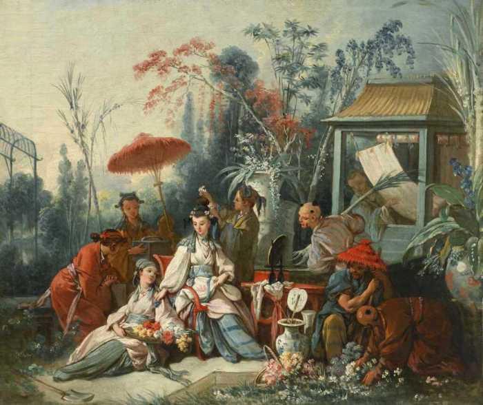 Китайский сад. Франсуа Буше, 1742 год. | Фото: fiveminutehistory.com.
