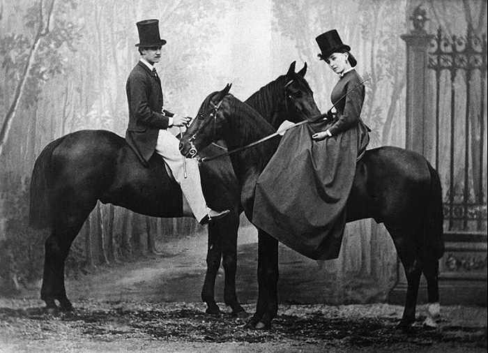 Кора Перл и ее воздыхатель (1865). | Фото: fr.wikipedia.org.