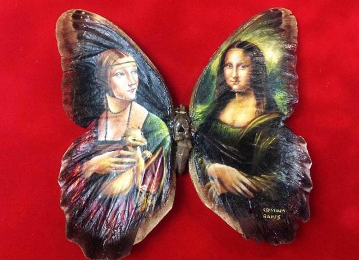 Живопись на крыльях бабочки.