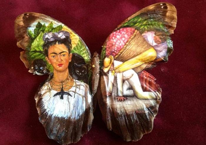 Живопись на бабочках от мексиканского художника.