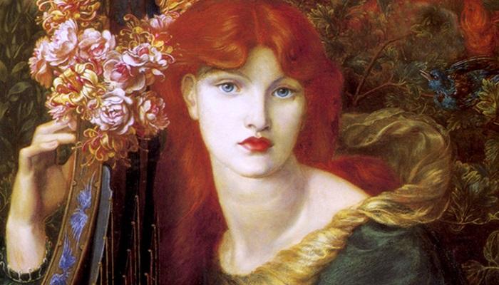 Картина, написанная Данте Габриэлем Россетти.   Фото: fiveminutehistory.com.