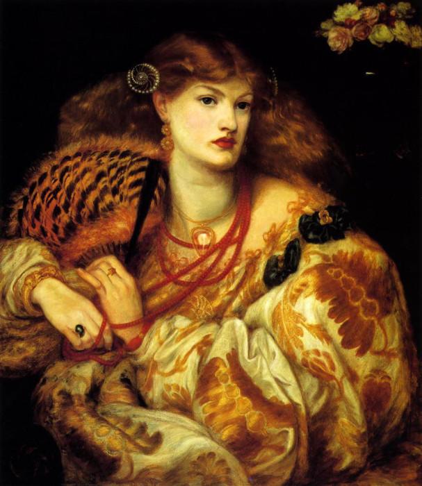 Monna Vanna. Данте Габриэль Россетти, 1866 год.   Фото: fiveminutehistory.com.