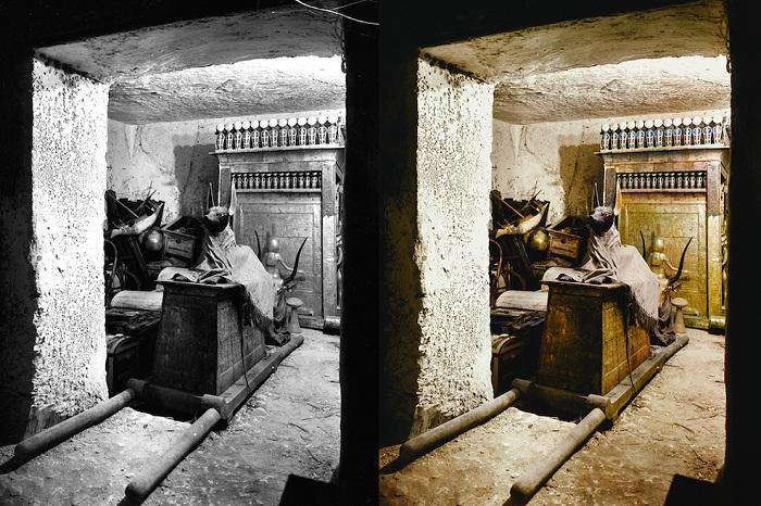 Историческое фото черно-белое и в цвете.