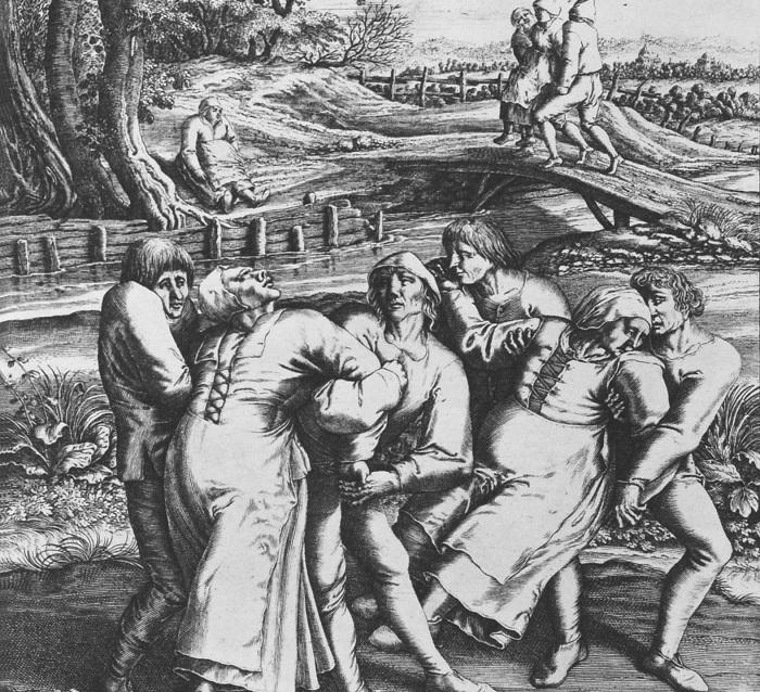 Гравировка Хендрика Хондиуса изображает трех женщин, пострадавших от чумы. | Фото: img.uucyc.ru.