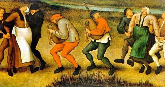 Танцевальная чума Средневековья - необъяснимый феномен. | Фото: nosecret.com.ua.