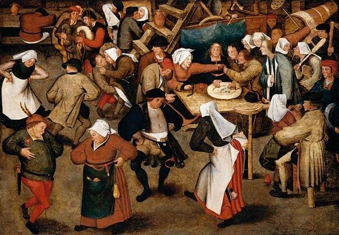 Танцевальное безумство, охватившее людей в 1518 году в Страсбурге. | Фото: img1.liveinternet.ru.