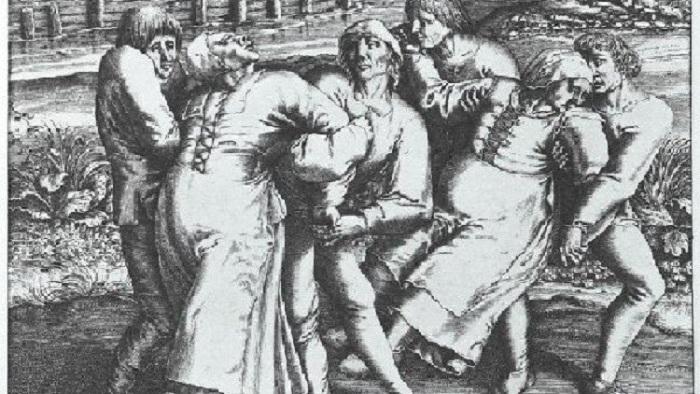 Танцевальная чума Средневековья. | Фото: thevintagenews.com.