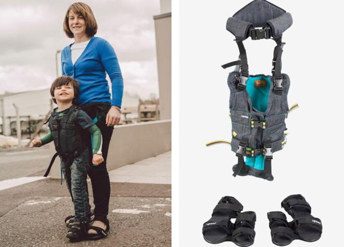 Приспособление для поддержания ребенка в вертикально положении.