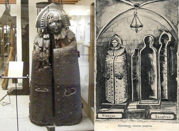 «Железная дева» - саркофаг с шипами, использовавшийся в качестве орудия пыток. | Фото: commons.wikimedia.org.