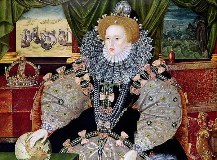 Портрет английской королевы Елизаветы I Тюдор.