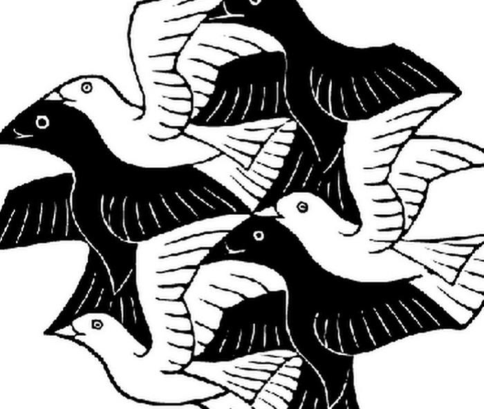 Оптическая иллюзия Маурица Эшера.   Фото: askideas.com.