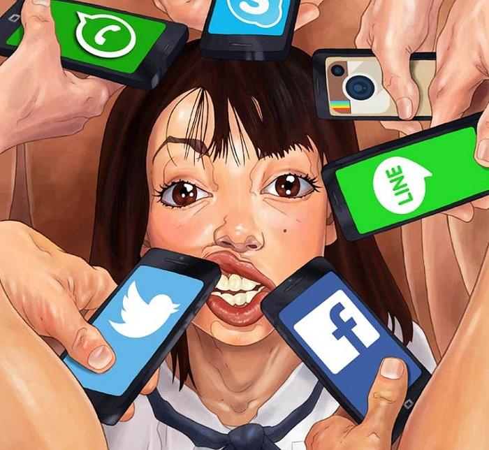 Жертва социальных медиа ресурсов.