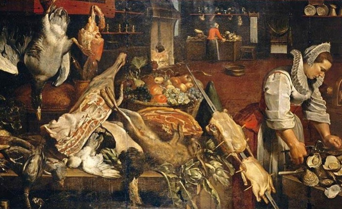 Кухня Натюрморт. Frans Snyders. | Фото: wahooart.com.