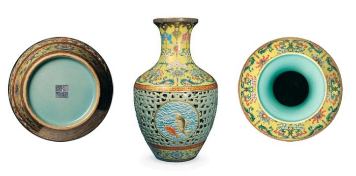 Ваза династии Цин, датированная серединой XVIII века. | Фото: extravaganzi.com.