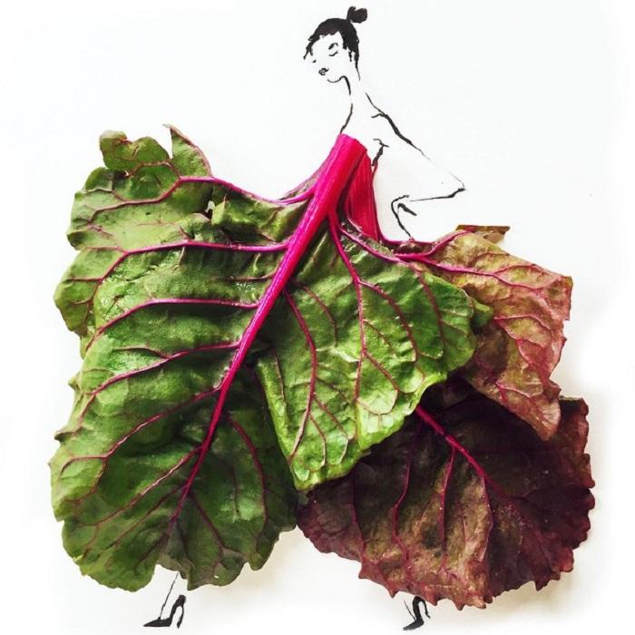 Эскиз одежды от иллюстратора Gretchen Rоehrs.