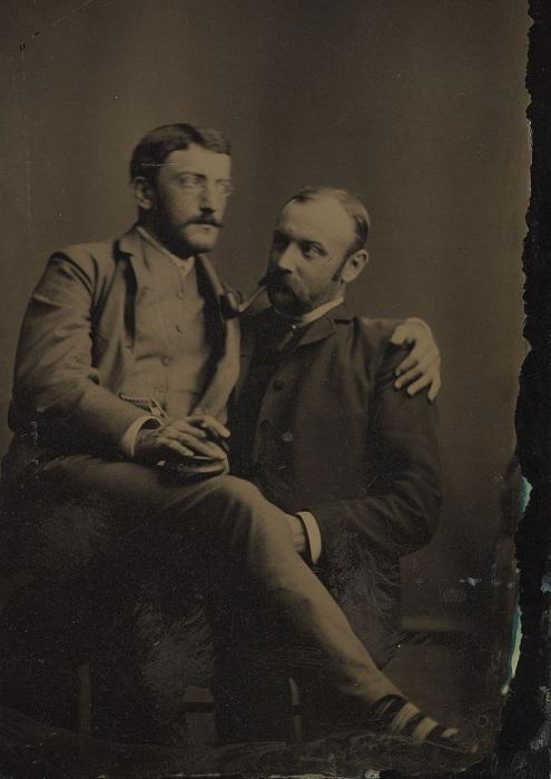 Фотография мужчин времен викторианской эпохи, 1880-1890-е гг. | Фото: mashable.com.