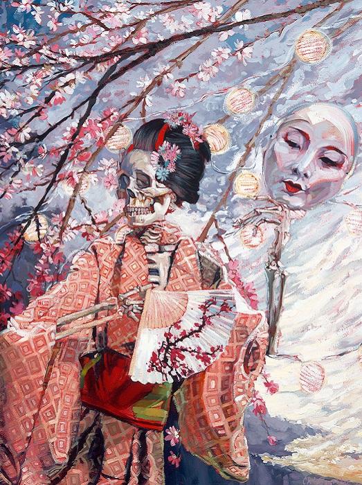 The Transience of Life (Sakura). Быстротечность жизни (Сакура).