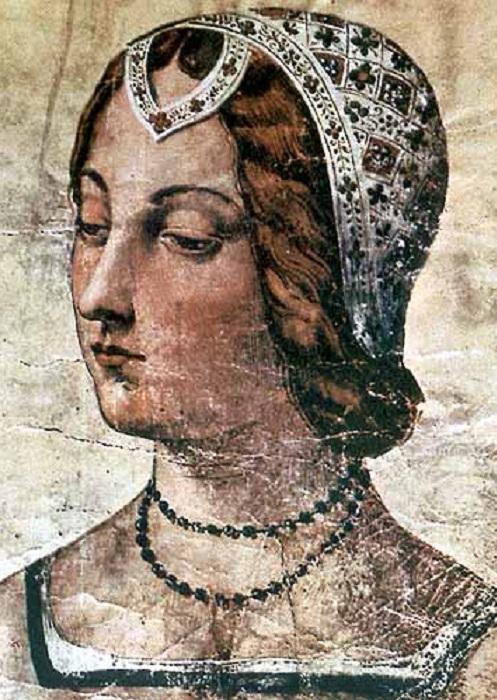 Лаура, рисунок XV века. Библиотека Лауренциана. | Фото: estet.7bk.ru.