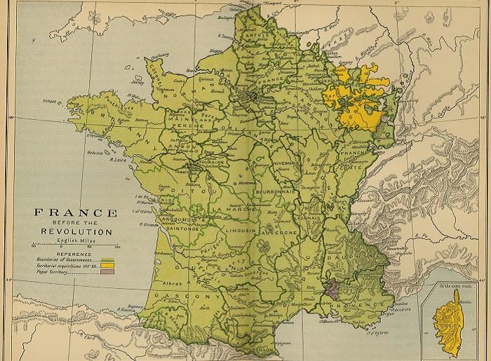 Карта Франции. | Фото: mapas.owje.com.