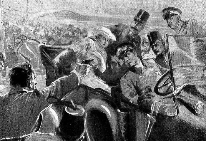 Убийство Франца Фердинадна, которое стало формальным поводом к началу Первой мировой войны. | Фото: i.obozrevatel.com.