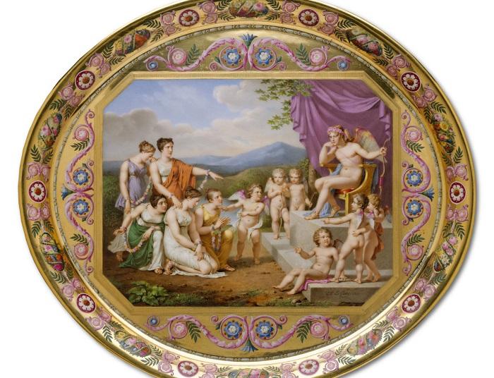 Сервировочный поднос для завтрака, 1813 год. | Фото: fiveminutehistory.com.