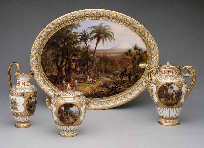 Кофейный сервиз, 1836 год. | Фото: fiveminutehistory.com.