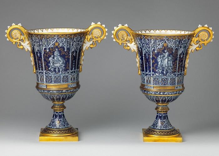 Готические вазы, 1832 год. | Фото: fiveminutehistory.com.